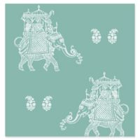 Brewster Home Fashions Ophelia Elephant Wallpaper in Coral