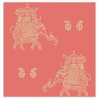 Brewster Home Fashions Ophelia Elephant Wallpaper in Turquoise