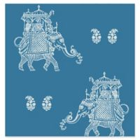 Brewster Home Fashions Ophelia Elephant Wallpaper in Blue