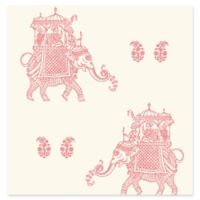 Brewster Home Fashions Ophelia Elephant Wallpaper in Pink