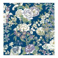 Ainsley Boho Floral Wallpaper in Indigo