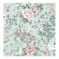 Ainsley Boho Floral Wallpaper in Aqua