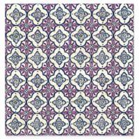 Geo Quatrefoil Wallpaper in Violet