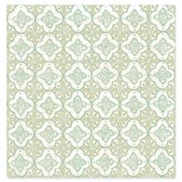 Geo Quatrefoil Wallpaper in Green