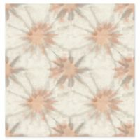 A-Street Prints Iris Shibori Wallpaper in Coral