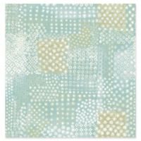Flower Power Patchwork Wallpaper in Turquoise