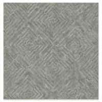 A-Street Prints Labyrinth Geometric Wallpaper in Pewter