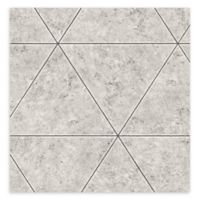 Brewster Home Polished Concrete Geometric Wallpaper in Grey