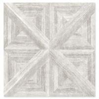 Carriage House Wood Wallpaper in Light Grey