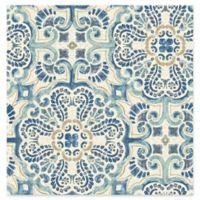 Florentine Tile Wallpaper in Blue