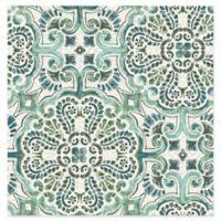 Florentine Tile Wallpaper in Green