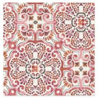 Florentine Tile Wallpaper in Pink