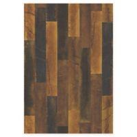 Antique Floorboards Wood Wallpaper in Brass