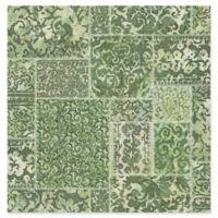 Esma Vintage Carpet Wallpaper in Green
