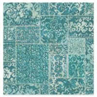 Esma Vintage Carpet Wallpaper in Teal