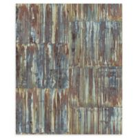 A-Street Prints Patina Panels Faux Metal Wallpaper in Multi