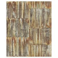 A-Street Prints Patina Panels Faux Metal Wallpaper in Copper