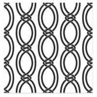 Infinity Geometric Stripe Wallpaper in Black