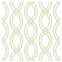 Infinity Geometric Stripe Wallpaper in Light Green