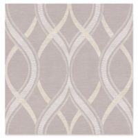 A-Street Prints Frequency Ogee Wallpaper in Lavender