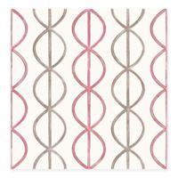 Banning Stripe Geometric Wallpaper in Pink