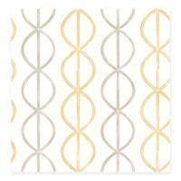Banning Stripe Geometric Wallpaper in Honey