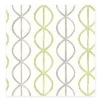 Banning Stripe Geometric Wallpaper in Green