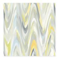 Aurora Geometric Wave Wallpaper in Yellow