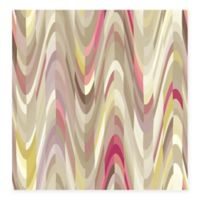 Aurora Geometric Wave Wallpaper in Pink
