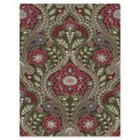 Brewster Home Night Bloom Damask Wallpaper in Chocolate