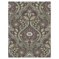 Brewster Home Night Bloom Damask Wallpaper in Charcoal