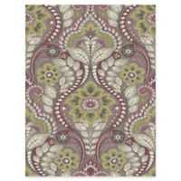 Brewster Home Night Bloom Damask Wallpaper in Grey