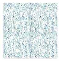 A-Street Prints Willow Leaves Wallpaper in Blue