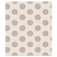 A-Street Prints Lise Medallion Wallpaper in Purple