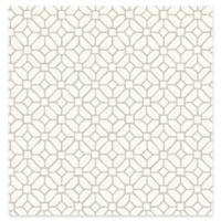 A-Street Prints Gigi Geometric Wallpaper in Light Grey