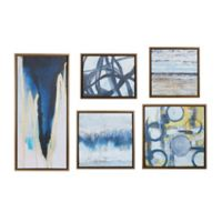 "Madison Park ""Blue Bliss Gallery"" 5-Piece Canvas Wall Art Set"