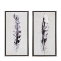 Madison Park Flight Feathers Hand Embellished Canvas Wall Art (Set of 2)