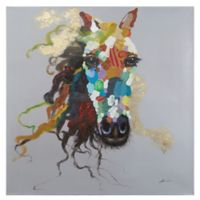"""Horse of an Abstract Color"" Canvas Wall Art"