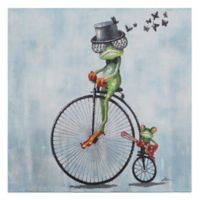 """Cyclist"" Canvas Wall Art"