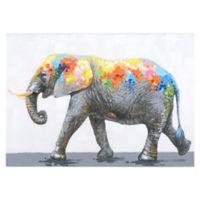 """Dazzling Elephant"" Canvas Wall Art"