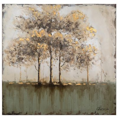 Between bare trees canvas wall art
