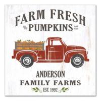 Designs Direct Farm Fresh Pumpkins 16-Inch Square Pallet Wood Wall Art
