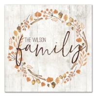 Designs Direct Family Harvest Wreath 20-Inch Square Canvas Wall Art