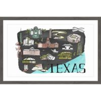 Marmont Hill All About Texas 24-Inch x 16-Inch Framed Wall Art