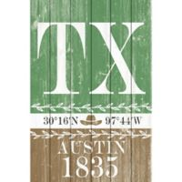 Marmont Hill Austin 1835 16-Inch x 24-Inch Wooden Wall Art