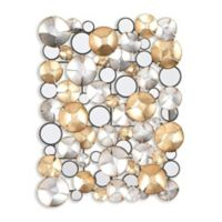 Southern Enterprises Locarno 28-Inch x 36-Inch Mirrored Metal Wall Sculpture