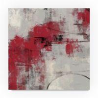 Trademark Fine Art Stone Gardens II Red 18-Inch Square Canvas Wall Art