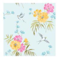 Decorline Riva Floral Wallpaper in Blue