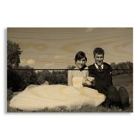 Designs Direct Photo Upload 10.5-Inch x 7-Inch Pallet Wood Wall Art