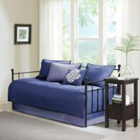 Madison Park Quebec Reversible Daybed Set in Navy